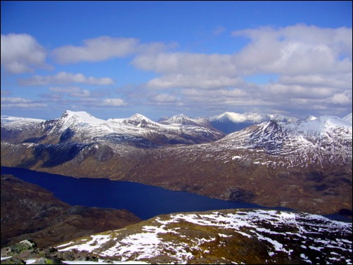 The Fisherfield Wilderness from the summit of Slioch