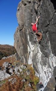 Fidgey Muckers, 7a, Goat Crag, Gruinard, Wester Ross