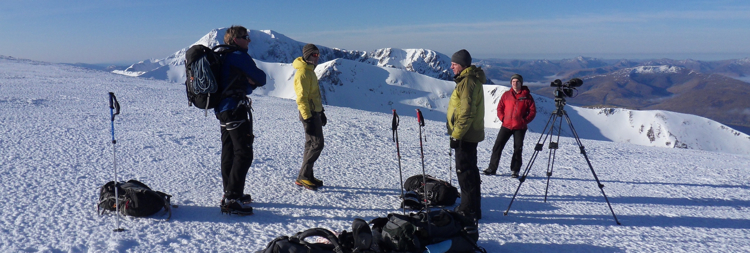 Hot Aches team filming on Aonach Mor